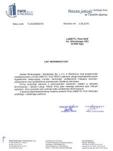 list referenncyjny ZWiK Racibórz
